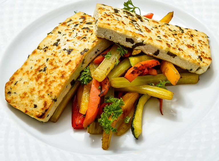 Tofu with vegetables