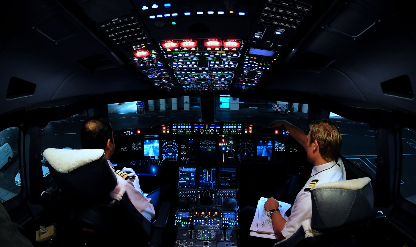 Take Off Airbus A380 in 360°